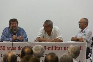 Jorge Lewitt (com o microfone), Cid Benjamin, diretor Jacques Gruman