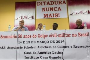 Renato Lemos, Caio Navarro de Toledo, Joel Rufino dos Santos, diretor Jacques Gruman