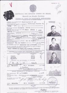 Salvo-conduto obtido no Consulado do Brasil em Marselha
