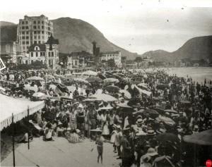 Praia de Copacabana nos anos 1930