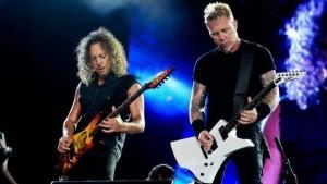 James Hetfield e Lars Ulrich, guitarristas do Metallica