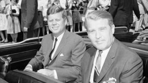 Wernher von Braun com John Kennedy