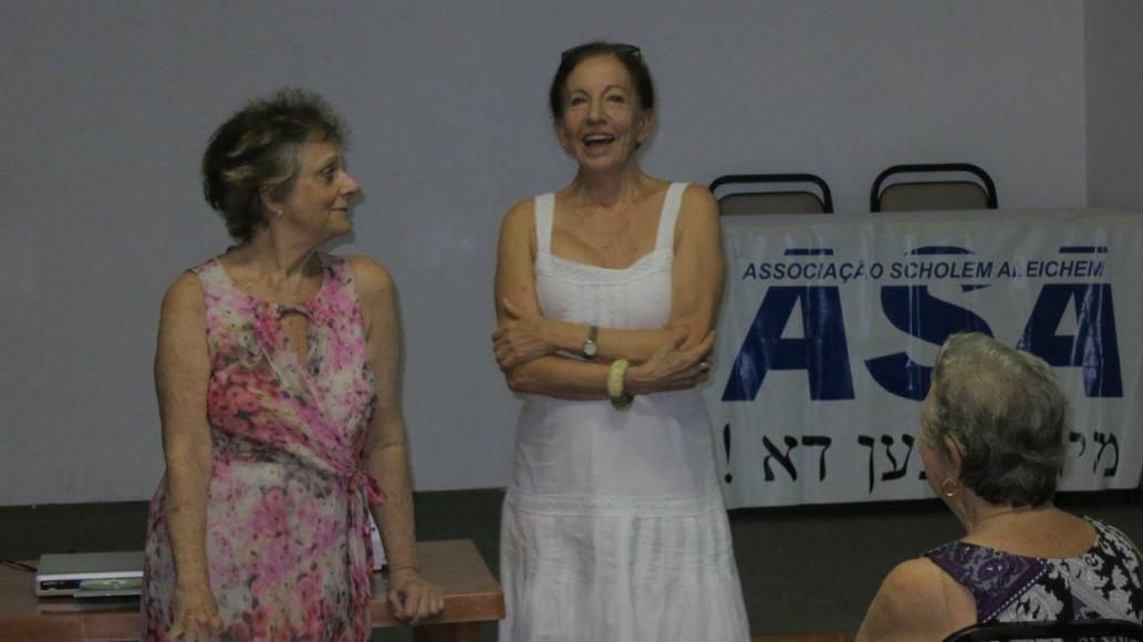 A cineasta Helena Solberg e a diretora Fanny Cytryn