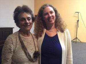 Diretora musical do Coro de Cor, Ana Azevedo, e a diretora Fanny Cytryn