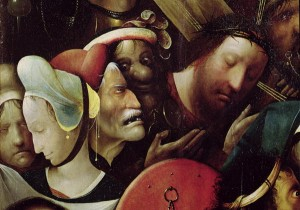 The Carrying of the Cross detail of Christ and St Veronica-xx-Hieronymus Bosch