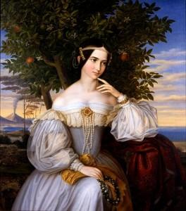 Moritz Daniel Oppenheim, Retrato de Charlotte de Rothschild, 1836