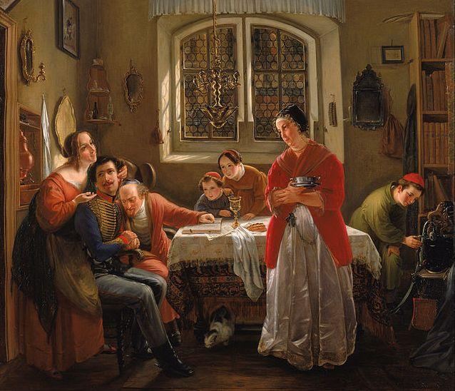 Oppenheim, O regresso do voluntário judeu, 1833-34