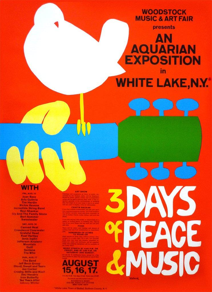 Poster Woodstock 1969