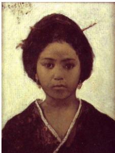 Gottlieb, Retrato de uma jovem japonesa, 1879