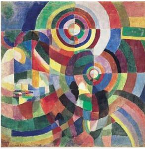 Sonia Delaunay-Terk, Prismas elétricos, 1914